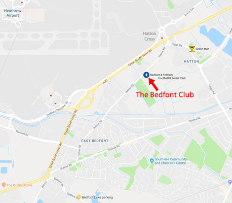 The Bedfont Club Location