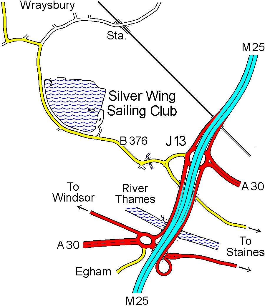 Wraysbury Sailing Club location
