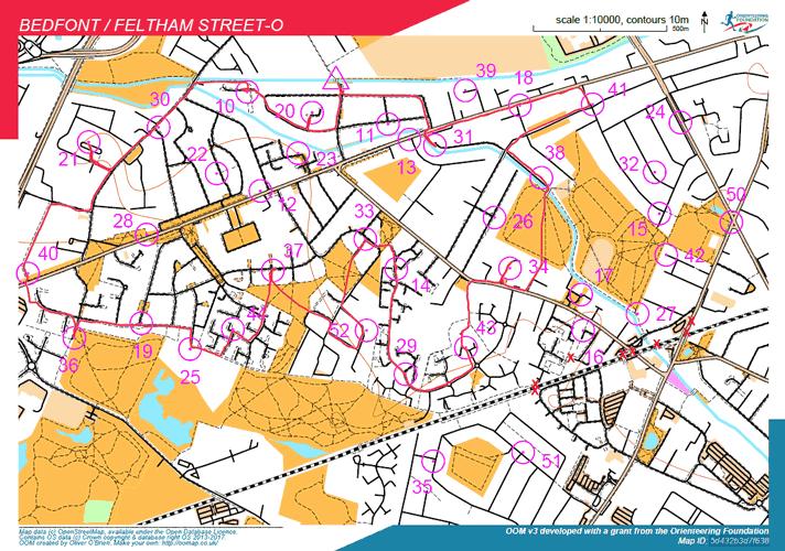 Club Street-O Bedfont map