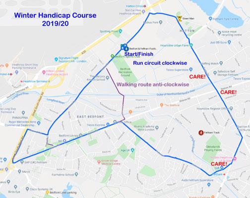 2019 Winter Handicap Course Map