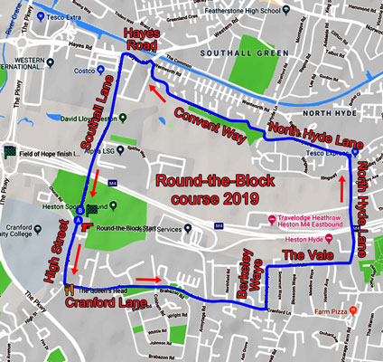 2019 Round-the-Block course