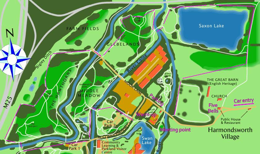 Harmondsworth Moor Run map