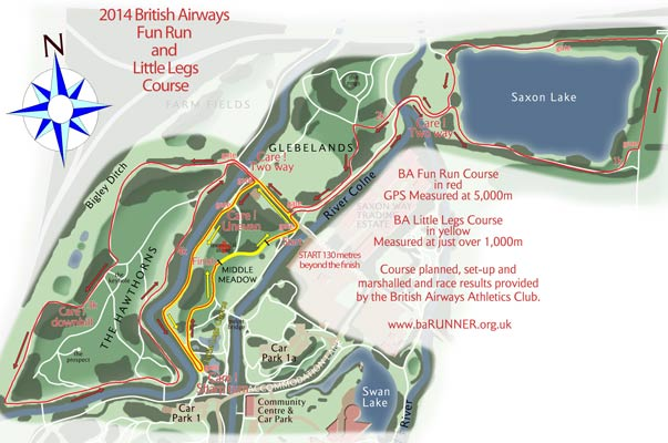 BA Fun Run course map
