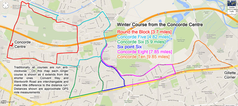 Winter runs from the Concorde Centre