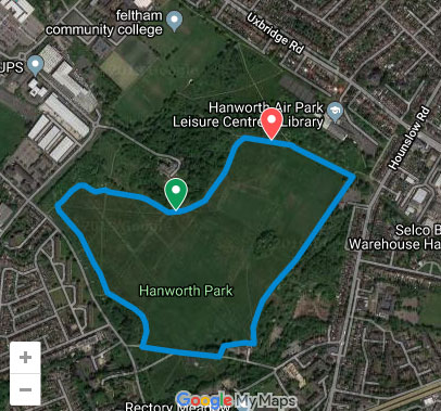 Hanworth parkrun course