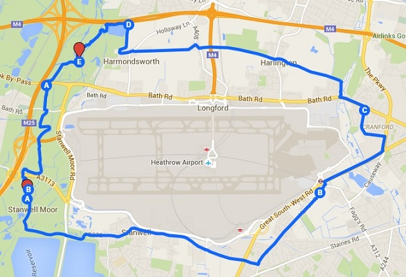 Round Heathrow Map