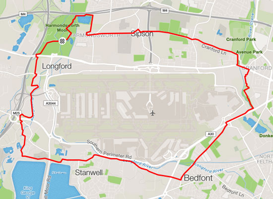 Round Heathrow course map
