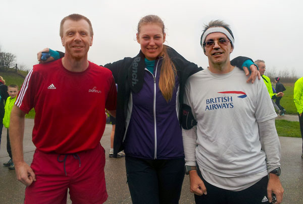Tony, Daniela and Roderick after the Gunpowder parkrun.