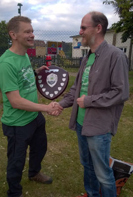 Chris hands over the GBR Corporate Trophy