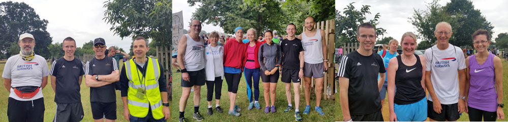 Bushy parkrun club runners