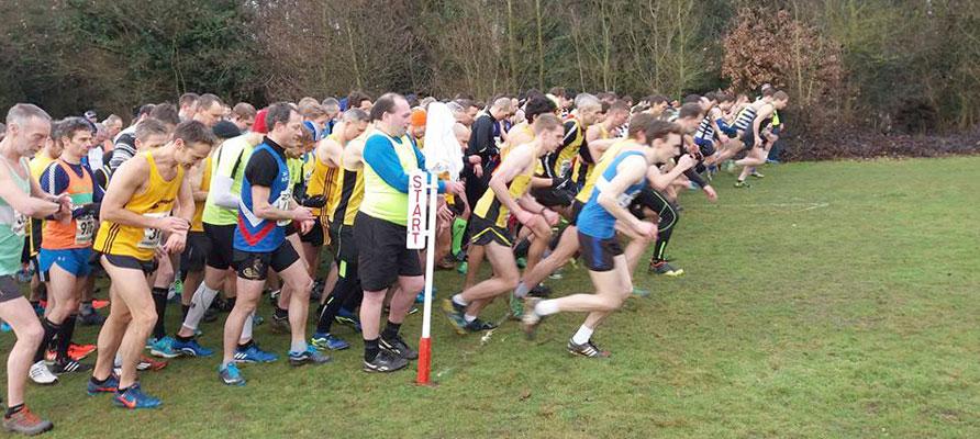 Surrey League Cross Country Cranford Park start