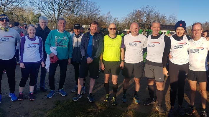 Bedfont Lakes parkrun team photo