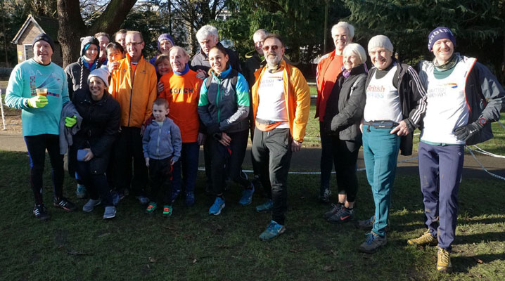 2017Jan Team photo at Woking parkrun