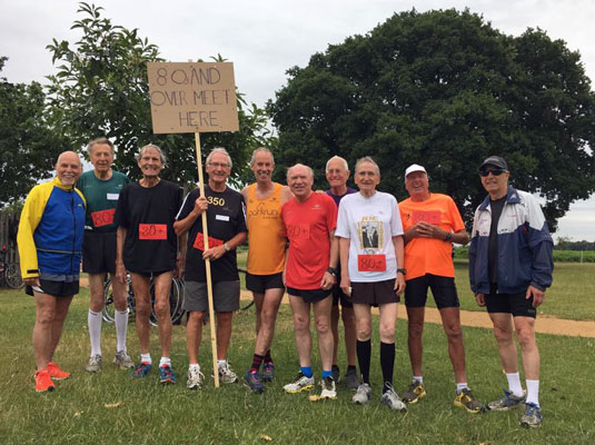 Over 80s at Bushy parkrun July 2017