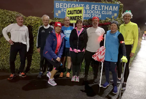 2018 Christmas Mile runners