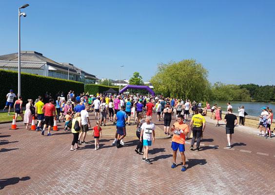 2018 Stockley Park 10k start