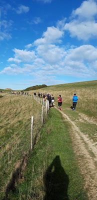 Beachy Head Marathon runners