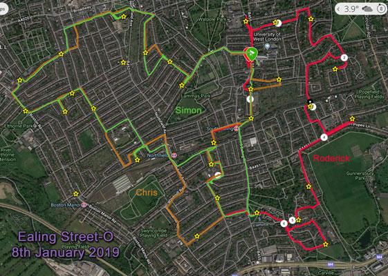 Ealing Street-O courses