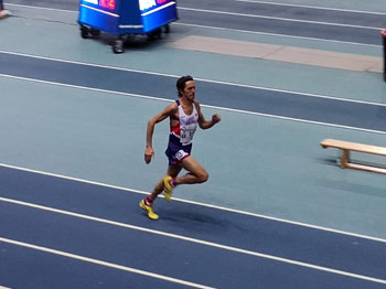 Adrian in the World Indoors 400m