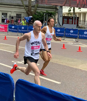 Adrian Haines in the Westminster Mile