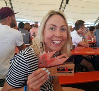 Natalie Ruffell IRONMAN 3rd place