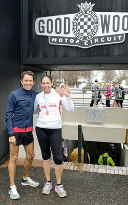 Janet and Adrian at Chichester 10k