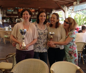 Ladies in France with trophies