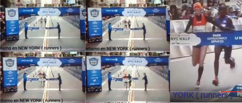 NYC Half Marathon Finish