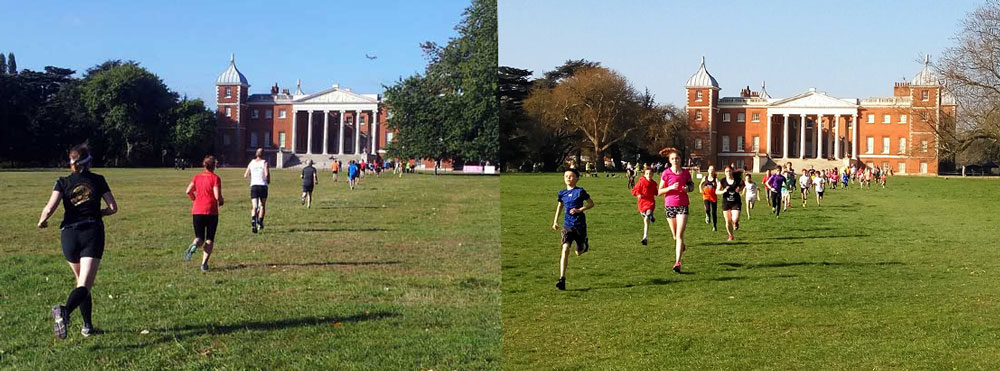 Inaugural parkruns at Osterley