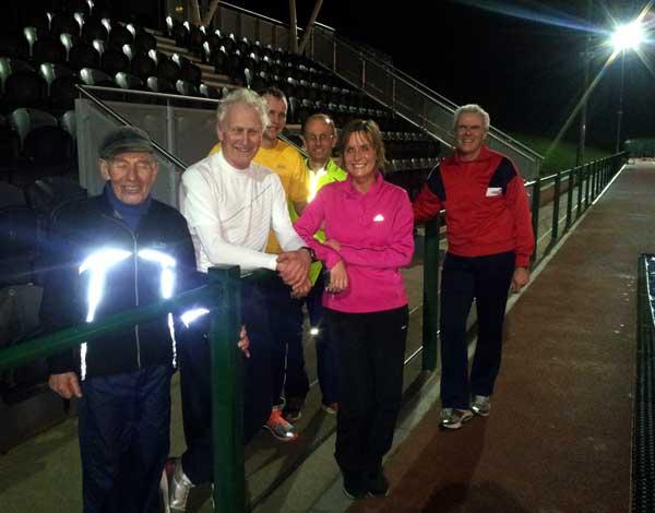 Uxbridge track training session 24th February 2014