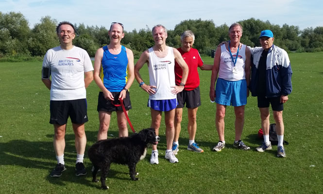 BA parkrunners at Reading August 2015