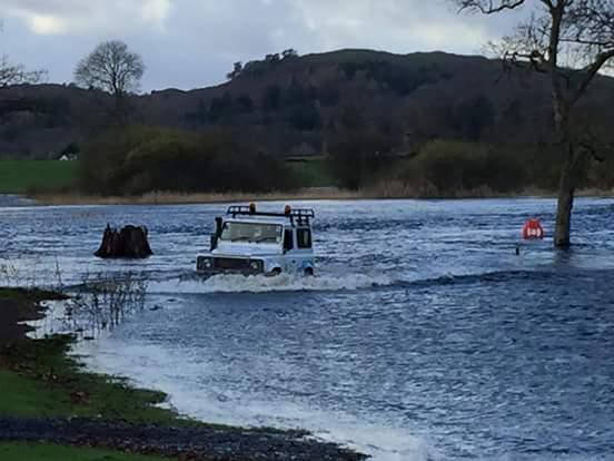 Fell Foot Flooded parkrun course