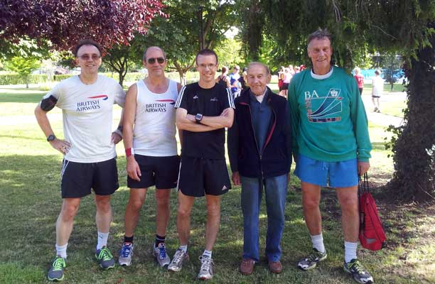 BA runners at Woking inaugural parkrun