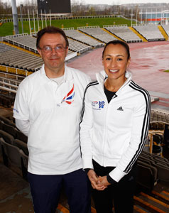 Roderick with Jessica Ennis